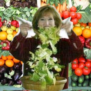 Edita Kaye tossing salad