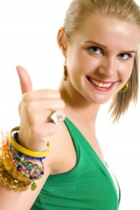 woman thumbs up 2