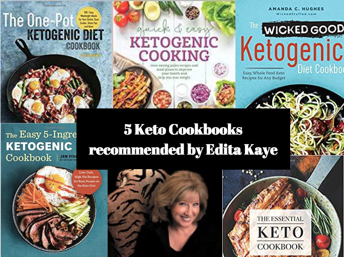 Keto Cookbooks recommended by Edita Kaye